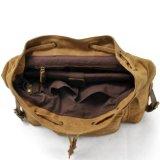 Il cuoio del Guangdong che fa un'escursione il cuoio della tela di canapa del sacchetto mette in mostra la fabbrica dello zaino di svago (RS9151)