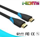 Cabo chapeado ouro de 19pin HDMI com cor dobro