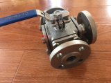 Methoden-Kugelventil des Form-Stahl-Ce/ISO quadratisches des Flansch-3