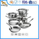 三重にステンレス鋼の調理器具一定12piece (CX-SS1205)