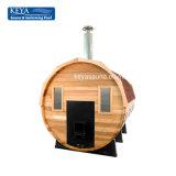 Best-seller atraente sauna camarotes barril sauna com sauna fogão