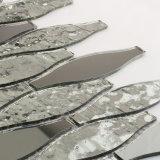 Лист Masaic плитки мозаики цветного стекла серебряного серого цвета зеркала пола для ванной комнаты