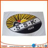 卸し売りカスタムロゴによって印刷されるファブリックサッカーのフラグ
