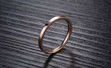 2017 de Nieuwe In het groot Geplateerde Ring Dimond van de Trouwring Goud