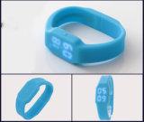 Relógio quente do diodo emissor de luz da movimentação do polegar do USB da faixa 16GB do silicone do esporte