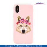 Caso del bordado de la célula de lujo del modelo/del teléfono móvil para el iPhone X 8 impresión más del perrito 8plus 7