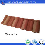 Soncap Bescheinigung-Mailand-Typ Stein-überzogene Metalldach-Fliese