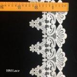 garniture de lacet de polyester de 12.5cm, garniture normale de lacet, garniture de lacet de guipure, 100% garniture de lacet de polyester, cadre de lacet, garniture de lacet de crochet de polyester pour la couture Hmhb819