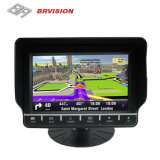 Sistema del Rearview del monitor del vehículo de la navegación del GPS con 2 cámaras