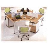 Divisória da mesa do computador de escritório de 4 pessoas com pé do metal