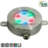 IP68 방수 LED 수중 램프가 RGB 샘에 의하여 점화한다