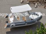 iate inflável rígido da pesca do barco do reforço do barco de pesca da fibra de vidro de 5.8m