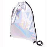 2019 Fashion Laser elegante PU Cordão Backpack Holograma a Senhora Bag
