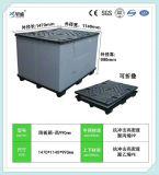 Contenitore di pallet pieghevole personalizzato per memoria ed il trasporto sicuri del carico