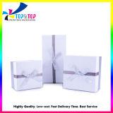 Couvercle en carton personnalisé et de cas du papier Emballage cosmétiques boîte cadeau avec Bow