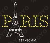 Transferência Rhinestone Hot Fix Motif Palavra Paris