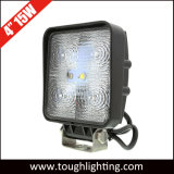 По просёлкам 12V 4 дюйма 15W квадратные светодиодные фонари рабочего освещения трактора