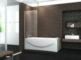 Pantalla de ducha curvada cuarto de baño barato del baño del oscilación del vidrio Tempered del precio