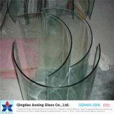 Doblado/curvado endurecido/templó el vidrio claro