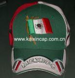 メキシコの旗(KX04)が付いている野球帽