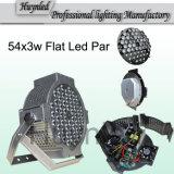 2014最新のPopular Flat 54 * Night Club/KTV Lighting/Party Lightingのための3W RGBW LED PAR Light Fit