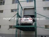 Vier Pfosten-Leitungskabel-Schienen-Aufzug für Autos