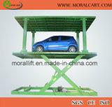 Verwendender Tiefbauauto-Parken-Wohnaufzug