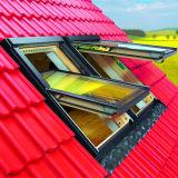 ضعف يزجّج ألومنيوم سقف نافذة