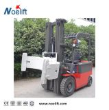 Caminhão de Forklift de quatro rodas da gasolina 2.5t com o mastro lateral do deslocador e do recipiente para o carregamento do recipiente
