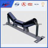 Transportador de correa de soporte de rodillos de alineación automática