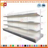 Doppeltes versah Rückenbrett-Fach-Wand-Metallsupermarkt-Regal-Zahnstange mit Seiten (Zhs53)