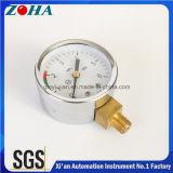 Seletor de aço dos calibres de pressão do ar do caso com o Scalse vermelho verde para a exatidão do cuidado 6MPa 2.5%