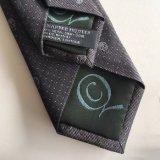 Crear el lazo de seda tejido de moda de la insignia para requisitos particulares de los hombres con inclinar de la tela del uno mismo que corresponde con (L050)