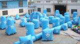 De lichtblauwe Sup Opblaasbare Arena van Bunkers Paintball voor Verkoop