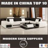Mobilia moderna stabilita L sofà del sofà sezionale del cuoio di figura