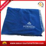 100% poliéster manta de lã de malha com logotipo de bordado