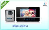 """7"""" TFT LCD grabable inalámbrica Video Portero timbre de llamada con tarjeta SD de 4G."""