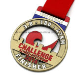 カスタム金属のマラソンの挑戦のための連続したスポーツメダル