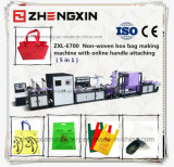 Bolso reutilizable no tejido de Full Auto que hace la máquina (ZXL-E700)