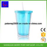 Copo de plástico personalizado de parede dupla, garrafa de água de suco de gelo (HDP-0174)
