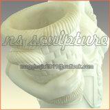 Fontaine De Marbre Blanc Avec Maîne De Beauté Pour Jardin De Maison Mf-048