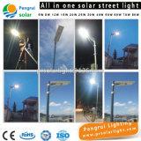 省エネLEDセンサーの太陽電池パネルの動力を与えられた屋外の壁12W LEDの街灯