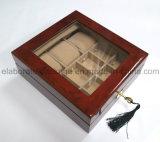 Fábrica Atacado de madeira de vidro caixa de relógio de janela