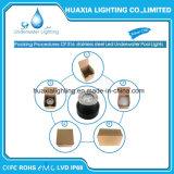 indicatore luminoso subacqueo impermeabile d'acciaio del raggruppamento di 316stainless LED (base rotonda)