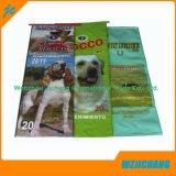 25kg de tejido de polipropileno laminado de la bolsa de alimentación mascotas alimentación perros