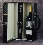 جديدة 2 زجاجة رفاهية صنع وفقا لطلب الزّبون تصدير تعليب هبة خمر صندوق