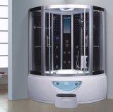 sauna d'angolo del vapore di 1300mm con la Jacuzzi e l'acquazzone (AT-0212)