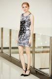 Vestito da spostamento Sleeveless di Ponte con la stampa di disposizione di Digitahi nel forte reticolo di fiore visivo