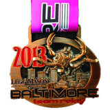 3D吊り下げ式の化粧箱を包む昇進のギフトの金属賞メダル