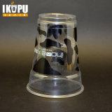 O costume personalizou o copo plástico impresso dos Smoothies descartáveis do animal de estimação 12oz com tampas